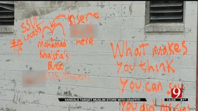 Vandal Targets Muslim-Owned Grocery Store In Oklahoma City