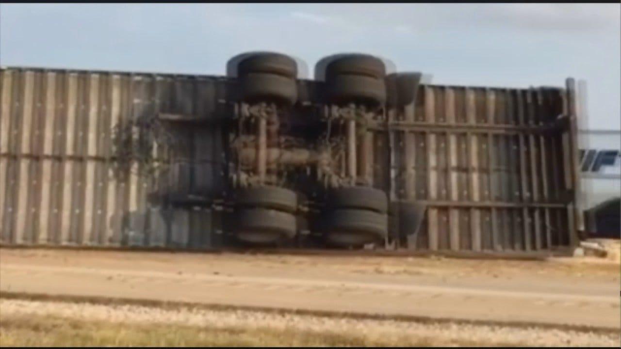 Crash Causes Road Closure In Canadian Co.