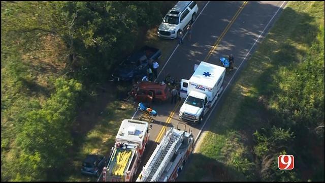 WEB EXTRA: Bob Mills SkyNews 9 Flies Over Head-On Collision In NW OKC
