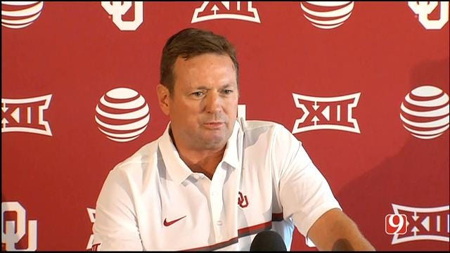 Bob Stoops Speaks At OU Media Day