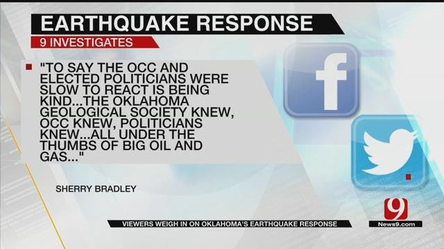 Viewers Weigh-In On Oklahoma's Earthquake Response