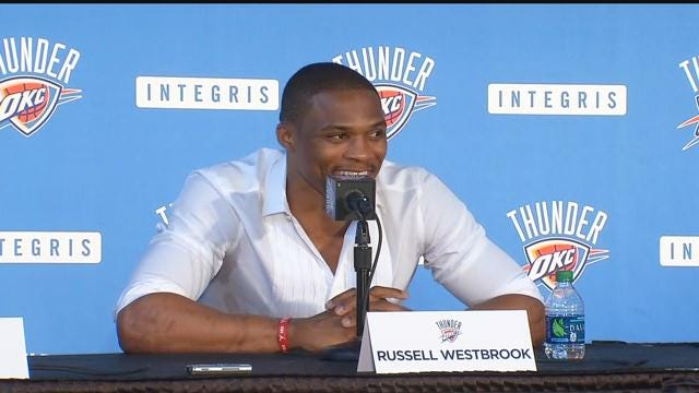 Full Video: OKC Thunder, Russell Westbrook Hold Press Conference