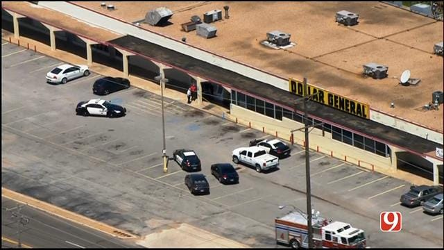 WEB EXTRA: Bob Mills SkyNews 9 Flies Over Shooting Investigation In MWC