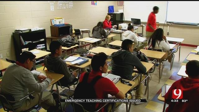 Emergency Certifications Issued To Ease Oklahoma Teacher Shortage