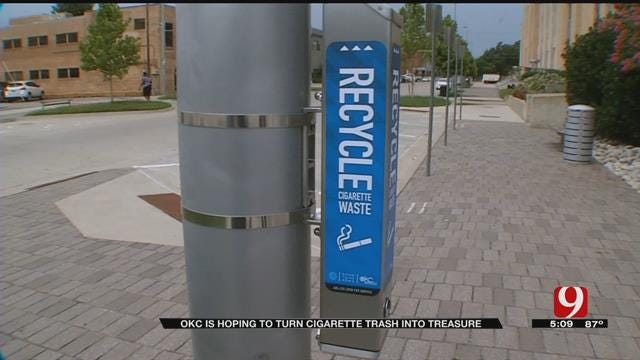 New Cigarette Recycling Bins Going In Downtown OKC