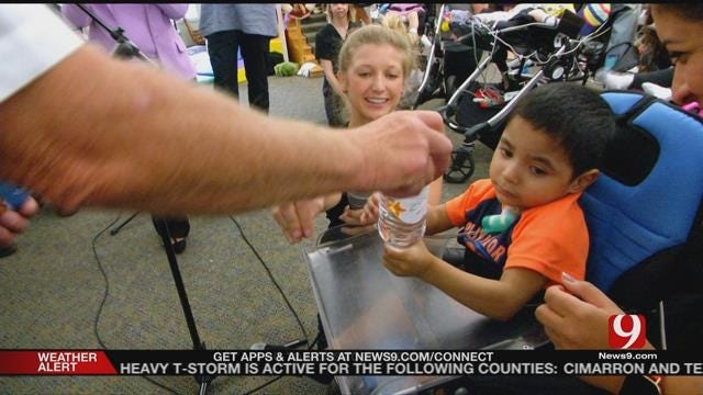 Patients From Children'ss Center Honor Firefighters