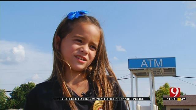 Blanchard Girl Raises Money To Make Police 'Goodie Bags'