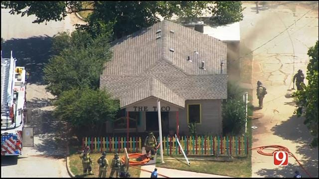 WEB EXTRA: SkyNews 9 Flies Over Fire At 'The Taco' Restaurant
