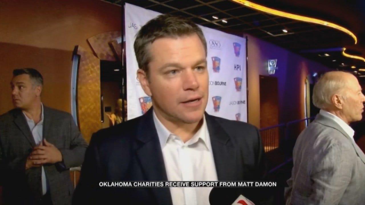 Matt Damon Supports Oklahoma Charities With Movie Screening