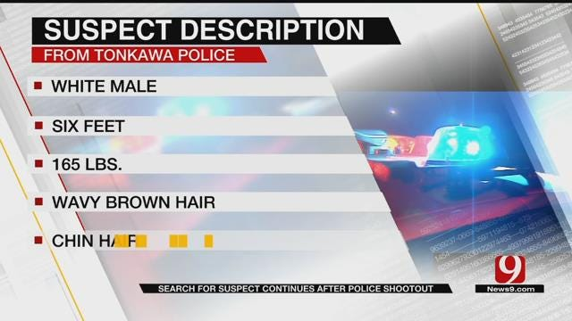 Search For Suspect Continues After Police Shootout In Tonkawa