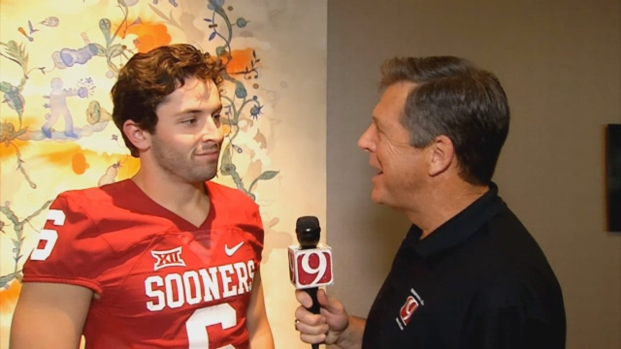 Dean Goes 1-on-1 With OU Quarterback Baker Mayfield at Big 12 Media Day