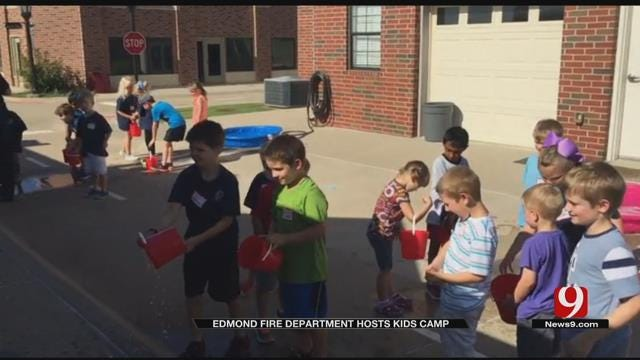 Edmond Fire Department Hosts Kids Camp