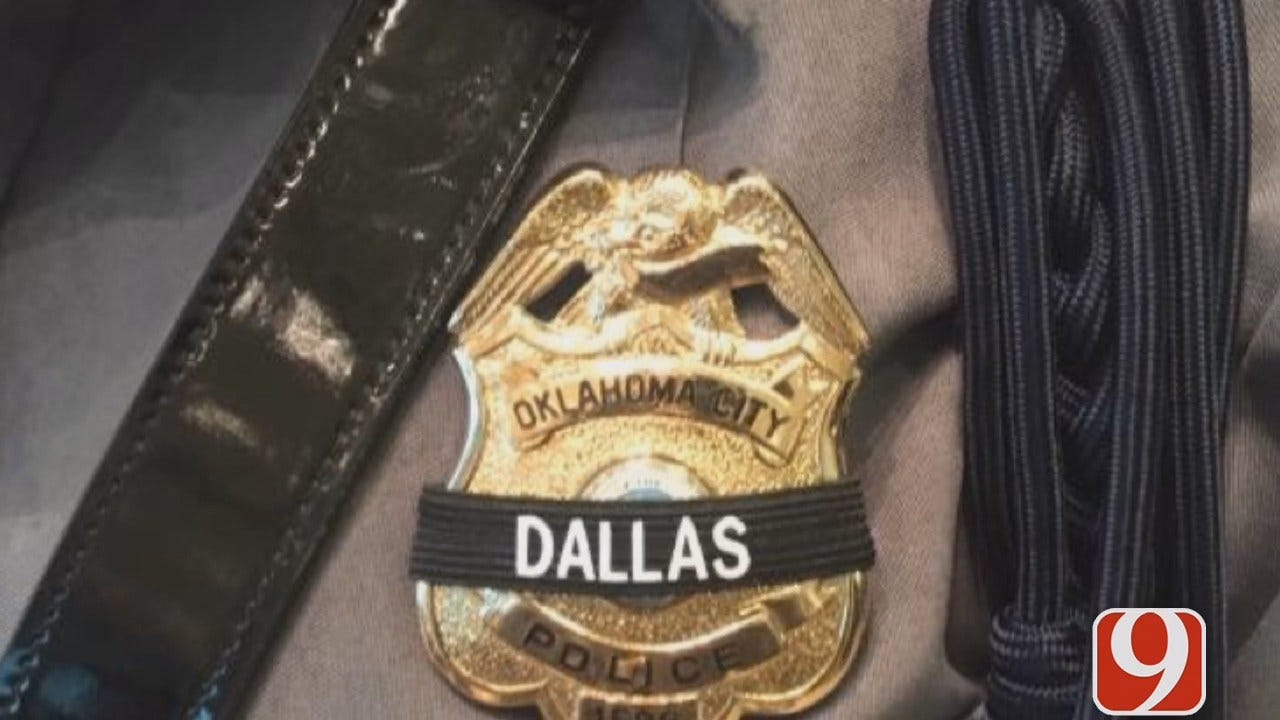 OKCPD Honor Guard Members, Others At Dallas Police Officer Funerals