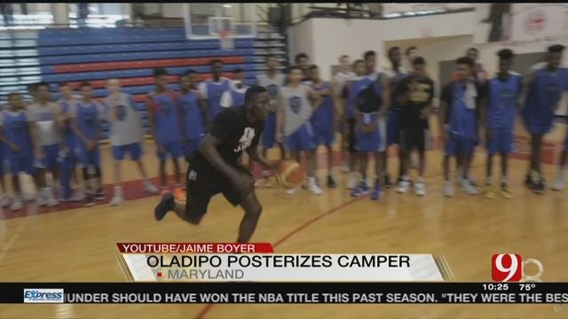 Victor Oladipo Throws Down Windmill Dunk on Camper