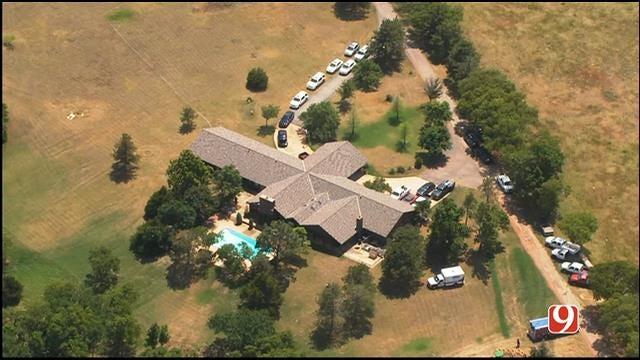 WEB EXTRA: Bob Mills SkyNews 9 Flies Over Scene Of Drowning In Edmond