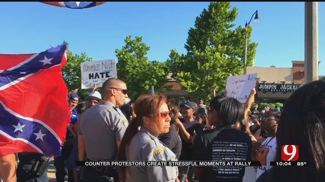 Counter-Protesters Create Stressful Moments At Black Lives Matter Rally