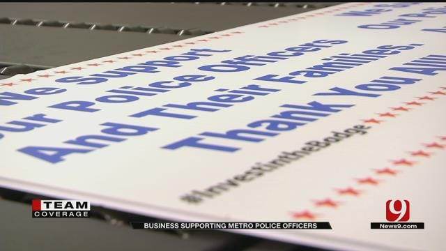 Signs Made In Support Of Police Officers After Dallas Police Ambush