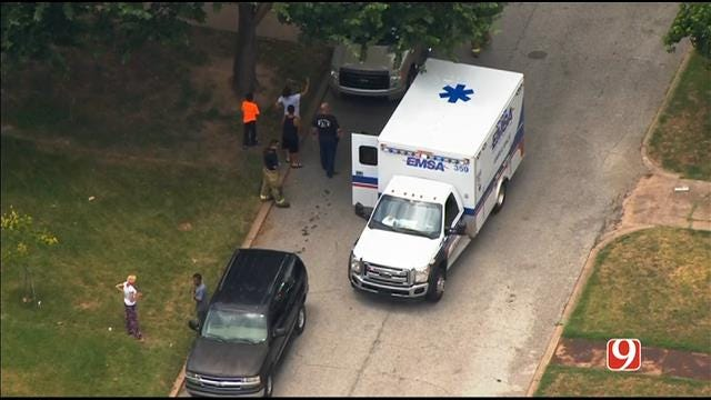 WEB EXTRA: SkyNews 9 Flies Over Auto Ped In NW OKC
