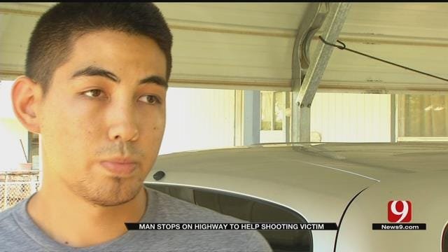 OK National Guardsman Helps Shooting Victim On Highway