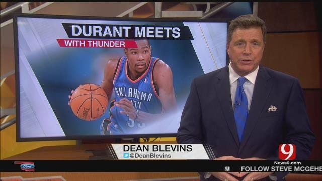 Durant Meets With Thunder on Thursday Before Free Agency Begins