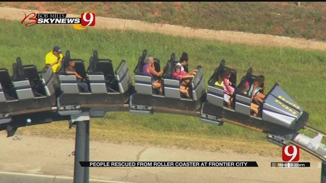 Eight Rescued From Roller Coaster At Frontier City