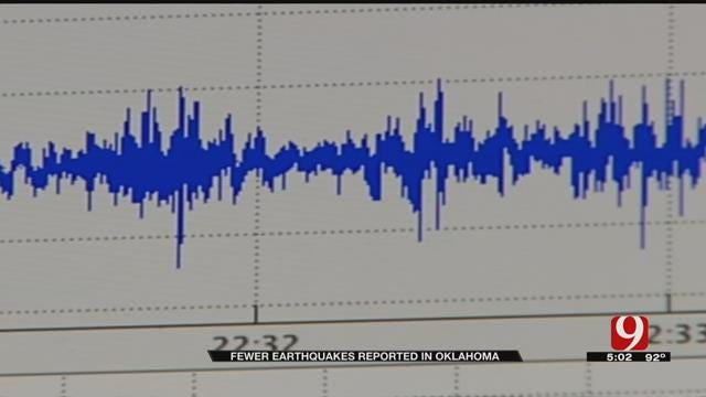OGS: Number, Strength Of Earthquakes Are Down