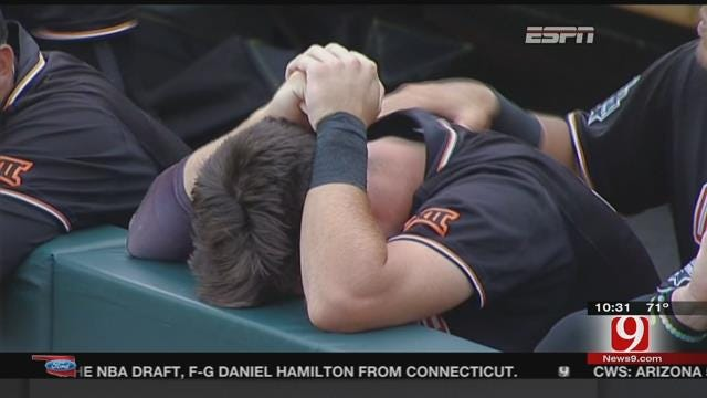 Josh Holliday Emotional After OSU Baseball Eliminated From College World Series