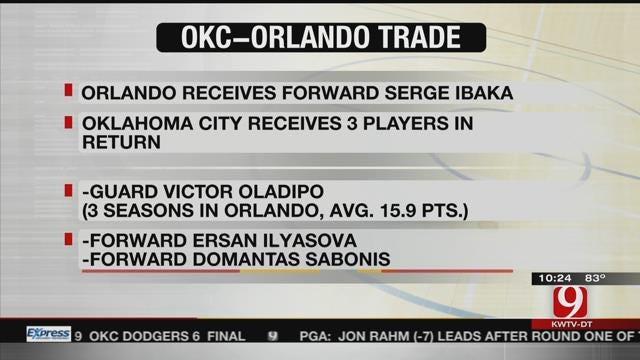 Thunder Trade Serge Ibaka to Magic For Oladipo, Ilyasova & Sabonis