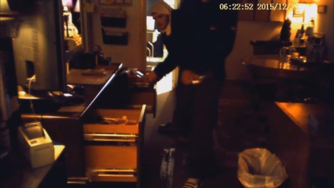 WEB EXTRA: Raw Surveillance Video Of Edmond Business Burglary