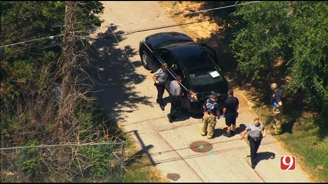 WEB EXTRA: SkyNews 9 Flies Over A Double Homicide In NE OKC