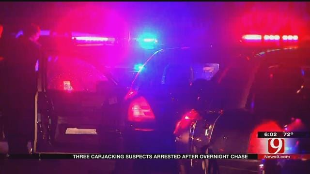 Three Suspects Arrested Following Carjacking, Chase In SW OKC