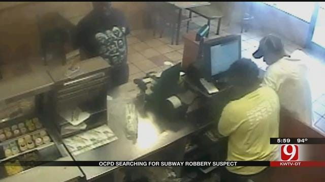 OKC Police Searching For Subway Robbery Suspect