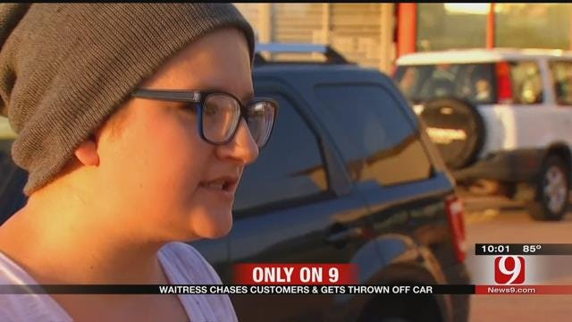 Waitress Chases Customers, Jumps On Car After 'Dine And Dash' In Guthrie