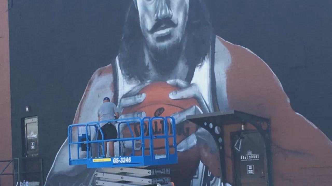 WEB EXTRA: Artist Invites Oklahomans To Visit Steven Adams Mural Wednesday