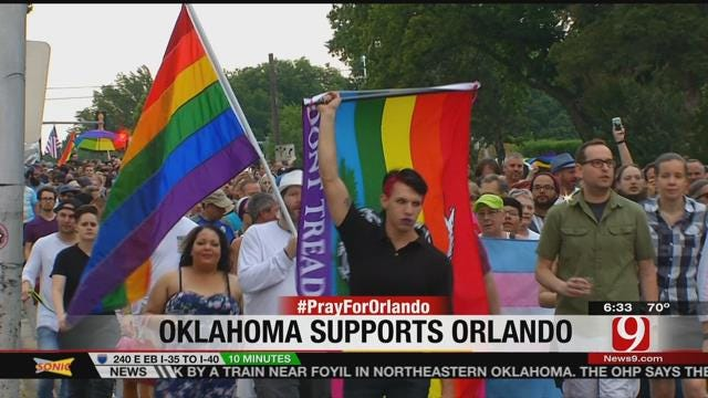 Hundreds Attend OKC Vigil, March For Orlando Mass Shooting Victims