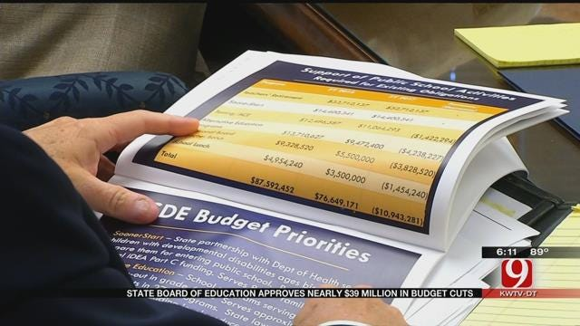 State Board Of Education Approves Nearly $39M In Cuts To Public School Activities Fund