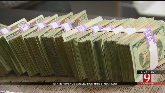 State Revenue Collection Hits Six-Year Low