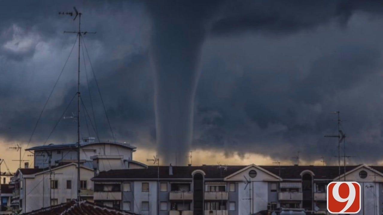 WEB EXTRA: MWC Couple Speaks To News 9 About Seeing Tornado In Italy