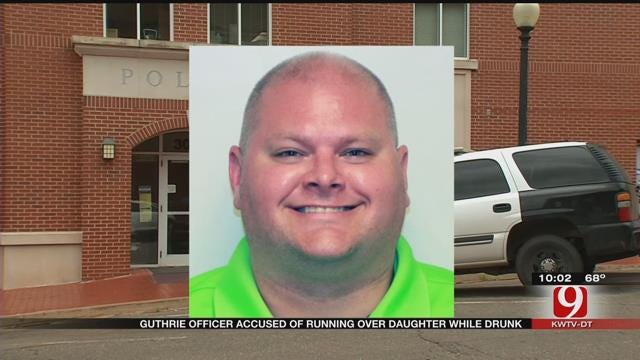 Former Guthrie Officer Accused Of Running Over Daughter While Drunk