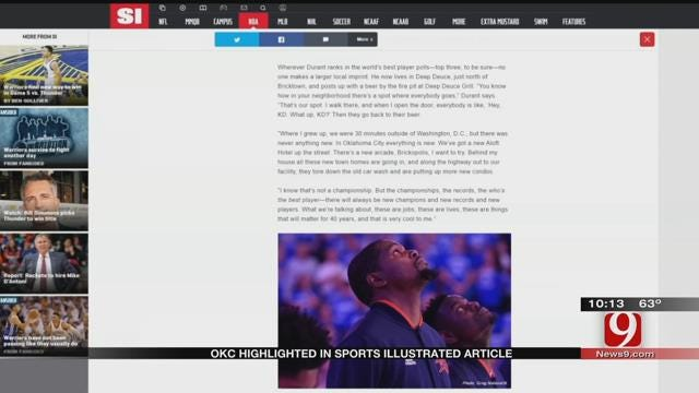 OKC Highlighted In Sports Illustrated Article