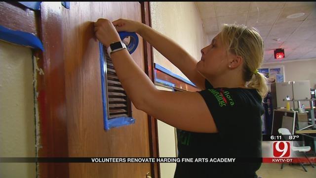 Volunteers Help Renovate Harding Fine Arts Academy In OKC