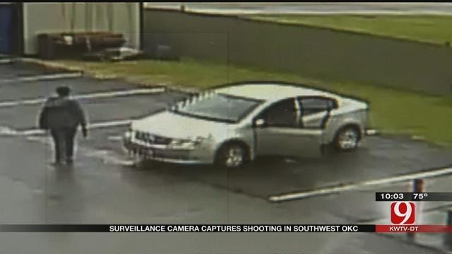 Surveillance Camera Captures Shooting In SW OKC
