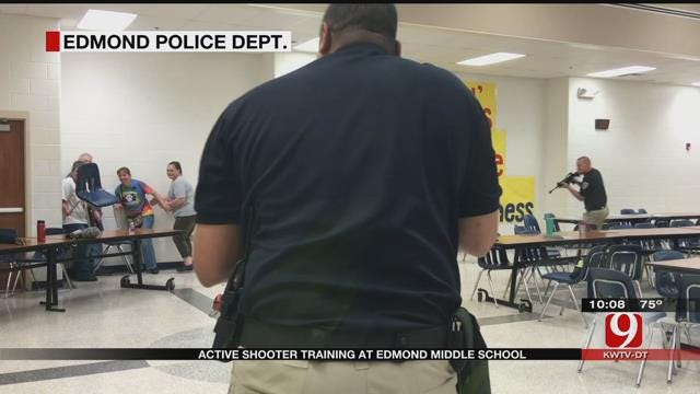 Edmond Police, School Officials Train For An Active Shooter Situation