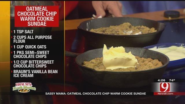 Oatmeal Chocolate Chip Warm Cookie Sundae