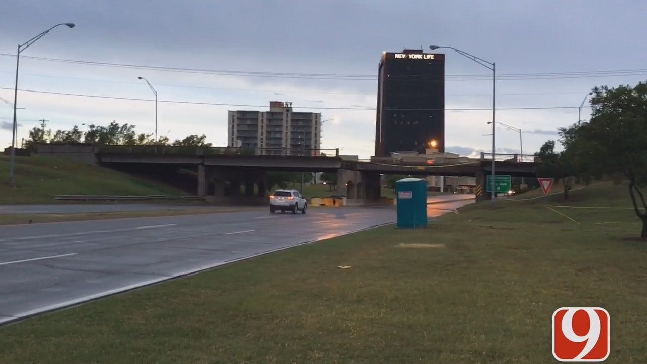 WEB EXTRA: May Ave. Bridge Remains Closed Over NW Expressway