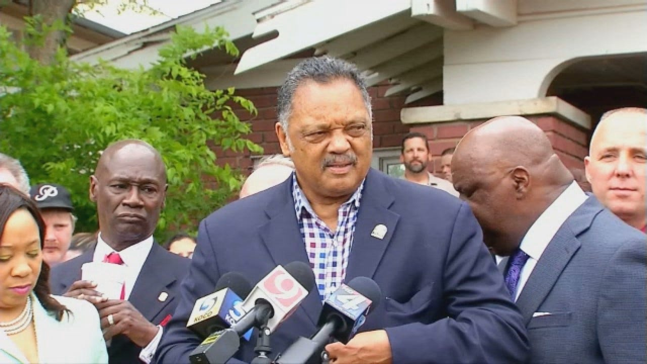 WEB EXTRA: Jesse Jackson Speaks At Press Conference In OKC