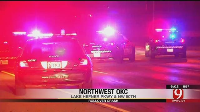 Two Injured In Rollover Crash Near Lake Hefner Parkway In OKC