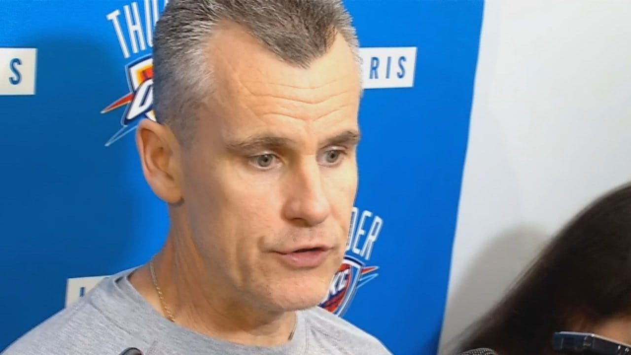 Billy Donovan Talks With Reporters After Saturday's Practice