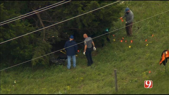 WEB EXTRA: Bob Mills SkyNews 9 Flies Over Scene Where Bones, Gun Found In OKC