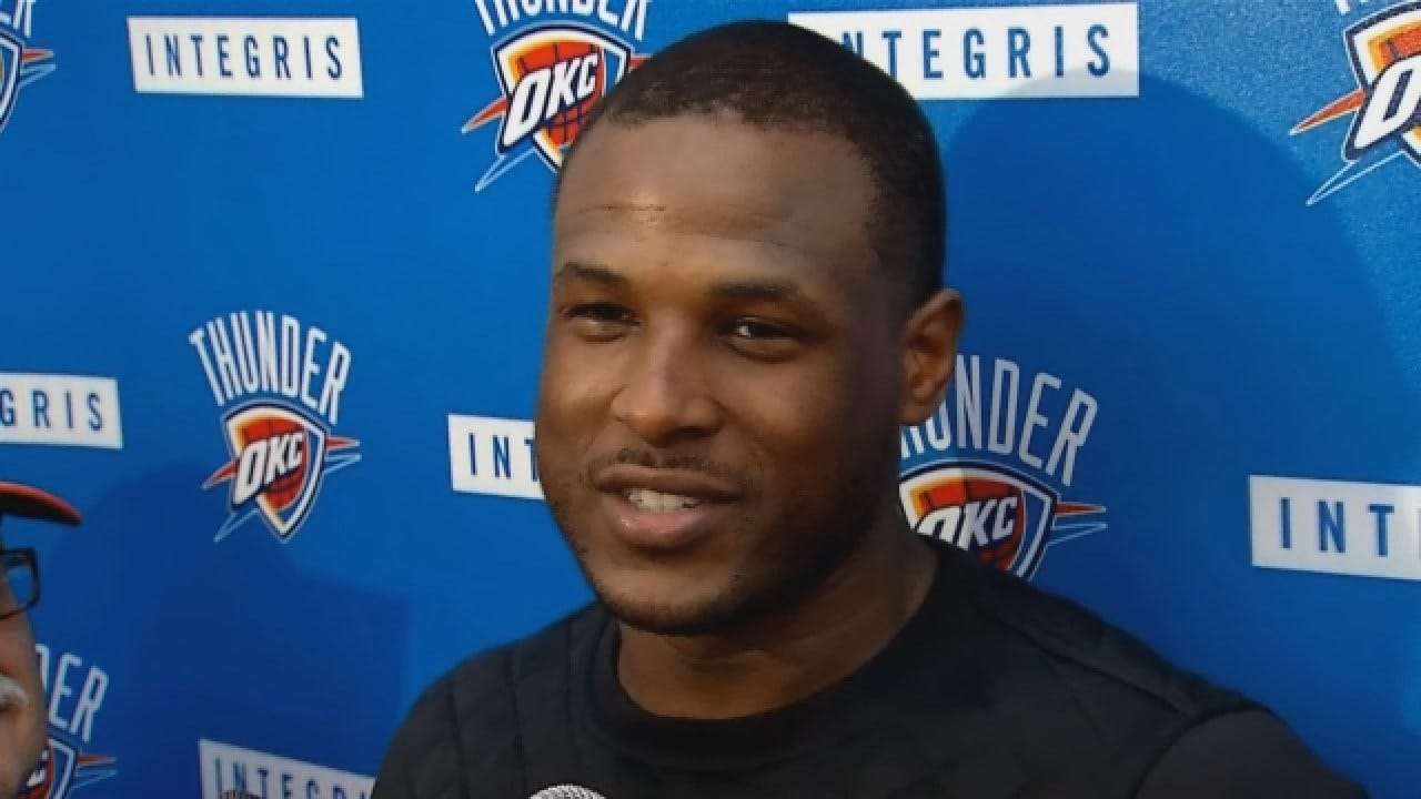Dion Waiters Talks With Reporters After Sunday's Practice